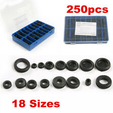 250pcs Rubber Grommet Hole Blanking Plugs Firewall Gasket Fixing Hole Caps