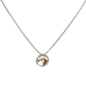 DAVID YURMAN Women's Chatelaine Pendant Necklace w/ 8mm Morganite NEW