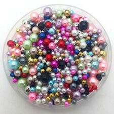 4-10mm 15g Mix Size No Hole Imitation Pearls Round Beads DIY Jewelry Making