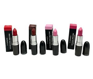 MAC Cosmetics Lipstick (Matte, Satin, Amplified Creme, Lustre) 0.10oz You Pick!