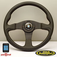Nardi CHALLENGE Steering Wheel Black Leather Black Spokes 350mm 6089.35.2071