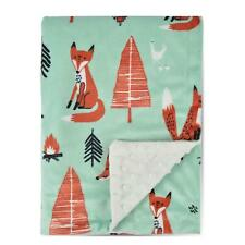 8d3b00b148 Boritar Fox Baby Blanket -Soft Minky with Double Layer Toddler Bed 30x40  Green