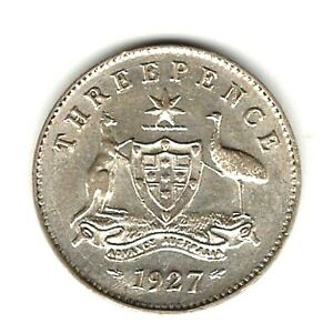 1927   THREEPENCE COIN -  UNCIRCULATED CONDITION