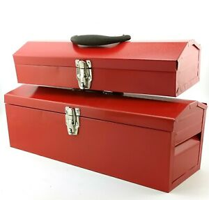 "DIY Metal Tool Box 16"" or 19"" with tray tool cabinet LOCKABLE garage toolstorage"