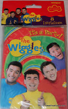 The WIGGLES Party Supplies INVITATIONS Birthday Decoration Treats x8 Invite NEW