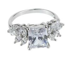 White Gold Filled Crystal Multi Stone Ring