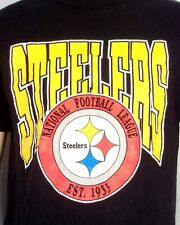 vtg 80s Trench Sportswear Nfl Pittsburgh Steelers T-Shirt single stitch soft L