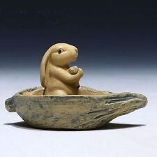 1pc China Yixing Purple Clay Tea Pet Accessories Boating Pet Rabbit Duan Ni