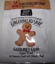 3 Packs Project 7 GINGERBREAD SNAP Gourmet Gum NEW SEASONAL FLAVOR  free ship