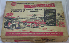 Gilbert AMERICAN FLYER AUTO-RAMA SPEEDWAY RACE 19090 Figure 8 Vintage Slot Car