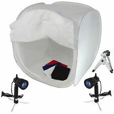 Tenda Luce Cubo PB01 Kit 60cm Softbox con 4x Fondali 2x Illuminatori, Cavalletto