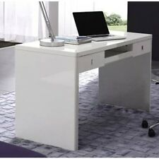 Aquila MXT2-08 Gloss White Home Office Desk Computer Desk with Drawers