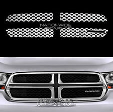 11 12 13 Dodge Durango CHROME Snap On Grille Overlay Front Grill Covers Inserts