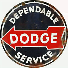 Dependable Dodge Auto Service Station Round Sign