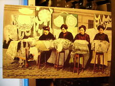 Cartolina 117 - Riviera di Levante, Lavoratrici di Pizzi al Tombolo Riproduzione