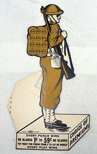 WORLD WAR I UNUSED U.S. SOLDIER PUNCH CARD