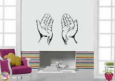Wall Stickers Vinyl Decal Praying Hands Christianity Symbol Church  (z1709)