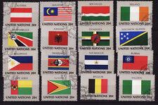 NATION UNIES  New York  série des Drapeaux de 1982  oblitérés