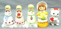 Lovely Home Decor & Collectible Pieces Lot Of 5 Porcelain/Ceramic Figurines VTG