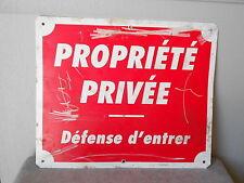 Vintage French tole  Plaque Sign Propriété Privée  = private