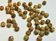 10 perles semi précieuses gemmes AGATES 8mm COULEUR ARGILE MAT //69