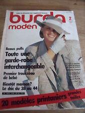 MAGAZINE BURDA MODEN TOUTE UNE GARDE ROBE INTERCHANGEABLE  02/1985