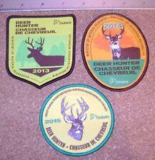3 ONTARIO MNR DEER HUNTING PATCHES 2013,2014,2015 moose,bear,elk,big  hunter