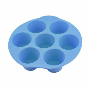 7 Cavity Silicone Bun/Muffin Mould - Non Stick Cooking Tray Baking Pudding Mold