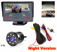 Night Vision Waterproof Car Rear View Reverse Backup Parking Camera Kit 8 IR LED