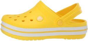Crocs Kid's Crocband Clog | Slip On Water Shoe for Toddlers,, Lemon, Size 4.0 aM