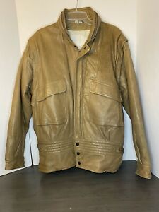 Rare Vintage Robert Comstock leather jacket, Pilot Print,  Men's LG