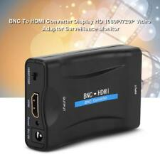 BNC To HDMI Converter 1080P Video Display Adapter Surveillance Monitor+USB Cable