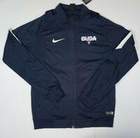 NIKE Men's FULL Zip Up Jacket with Pockets NAVY BLUE SIZE MEDIUM B.U.S.A
