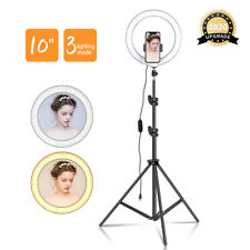 "10"" Dimmable Selfie Ring Light LED Makeup Live Video Photography Camera+ Tripod"