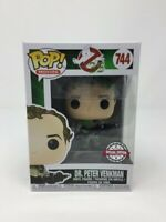 Funko Pop!  Peter Venkman Slimed #744- Ghostbusters - Special Ed +Pop Protector