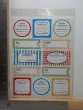 SRM STICKERS LABELS BY THE DOZEN HOMEMADE KITCHEN CLASSIC STICKERS A11345