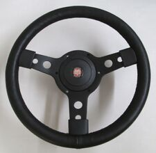 "New 13"" Leather Steering Wheel & Hub Adaptor Austin Healey Sprite Bugeye 1958-63"
