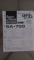 Pioneer sa-750 service manual original repair book stereo amp amplifier