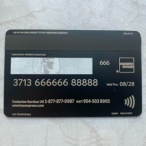Metal Black Card Customizable American Express Centurion Collect Amex Black Card