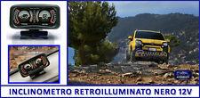 Panda Inclinometro auto fuoristrada camper Jeep Suv 4x4 Nero 12 Volt rollio