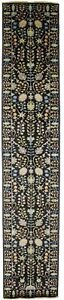 Handmade Muted Floral Oushak 3X14 Oversized Oriental Runner Rug Hallway Carpet