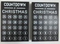 LOT Primitives By Kathy Countdown To Christmas Black Chalkboard Decoration Wood