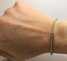 Sparkly bangle, solid Sterling silver, cubic zirconia, hinged, Hallmarked. New.