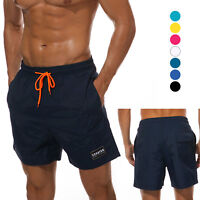 Male Swim Trunks Bathing Suit Quick dry with Pockets Lining Soft Summer Shorts