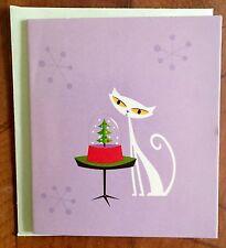 "SHAG Josh Agle ""SNOWGLOBE"" Mini Greeting Card  Art Print Tiki RARE"