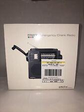 Eton LL Bean FR-200 Emergency Radio Battery Crank BLACK SW/AM/FM Flashlight Used