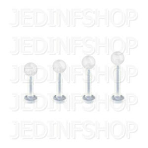 Retainer Hider - Labret Lip Stud | 1.6mm (14g) - 6mm-16mm | BioFlex - Ball Spike