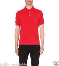 Authentic VW Vivienne Westwood MAN 3-Button Orb Red Classic Polo Shirt Size L
