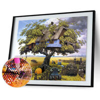 Square Drill 5D DIY Diamond Painting Tree House Embroidery Cross Stitch