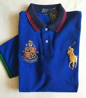$99 NWT Mens Polo Ralph Lauren Classic Fit Big Pony Mesh Shirt Royal Blue L XXL